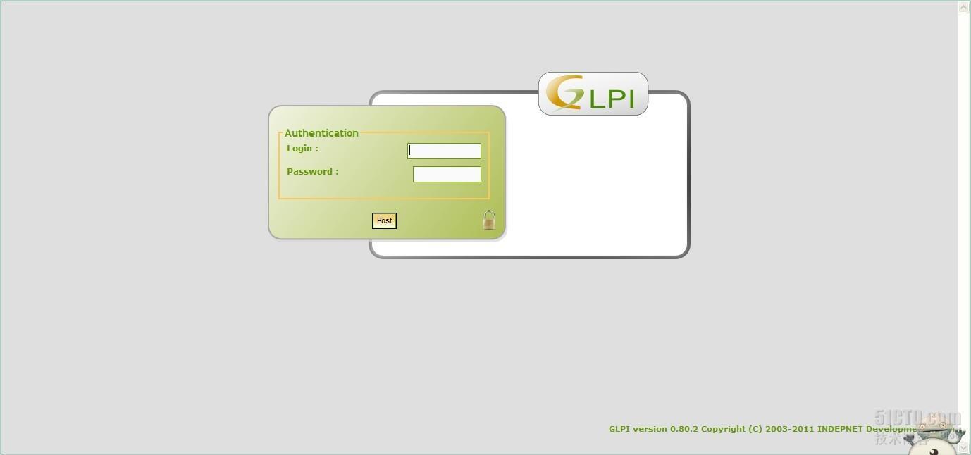 GLPI登录